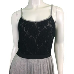 NWT Mystree Black/Gray Maxi Dress